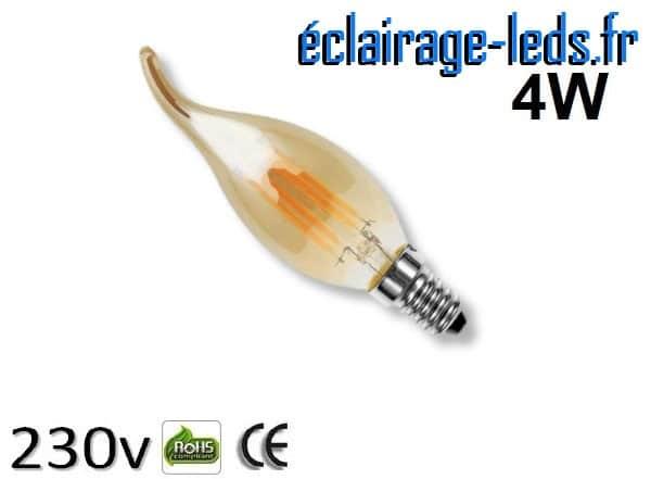 Ampoule led E14 vintage 4w Blanc Chaud