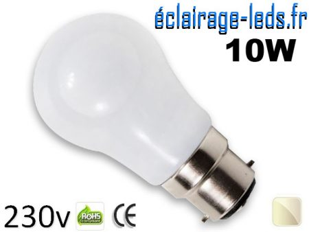 Ampoule led B22 liquide 10w SMD blanc naturel 4500K 230v