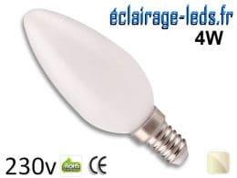 Ampoule led E14 liquide 4w blanc naturel 4500K 230v