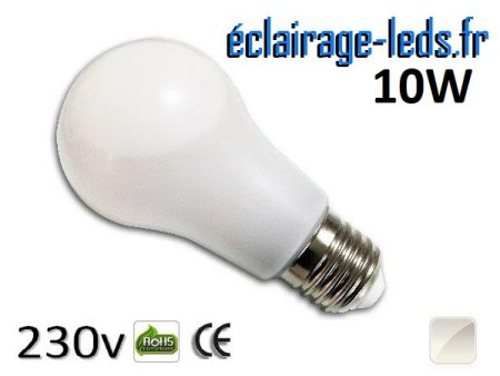 Ampoule led E27 liquide 10w SMD blanc naturel 4500K 230v AC