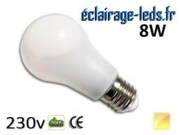 Ampoule led E27 liquide 8w SMD blanc chaud 3000K 230v AC