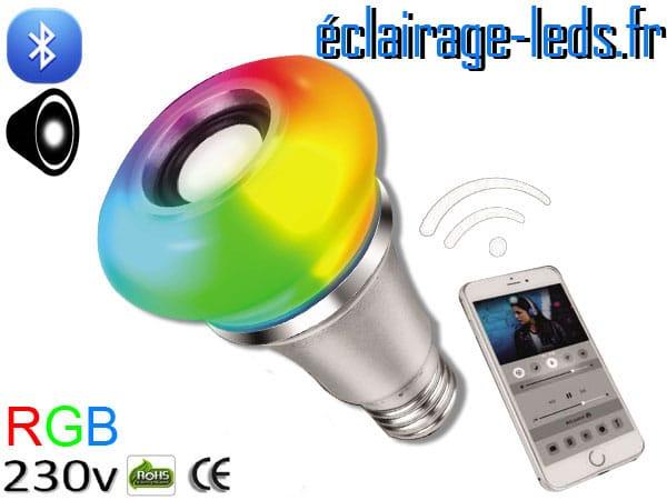Ampoule led E27 Queen musicale bluetooth RGB 230v AC