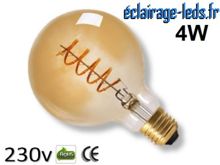 Ampoule led E27 vintage 4w COB Filament 2300K 230v