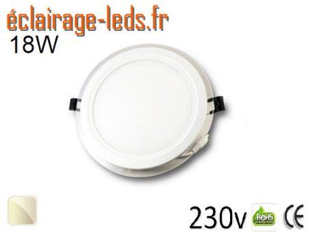 Spot LED Slim 18w blanc 230v