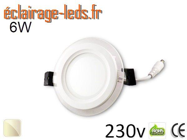 Spot LED Slim 6w blanc 230v