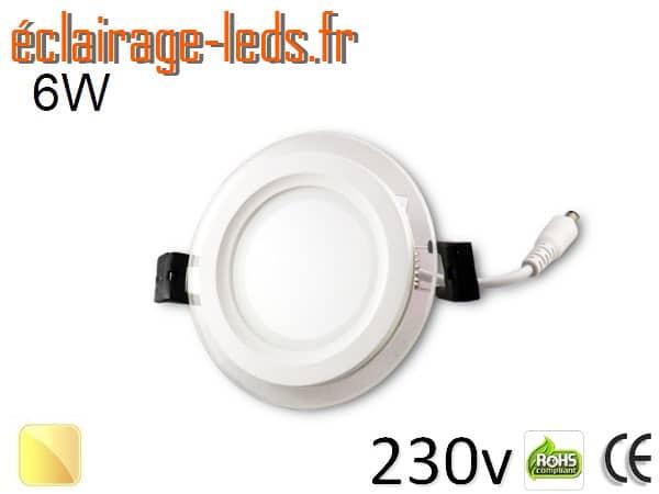Spot LED Slim 6w blanc chaud 230v