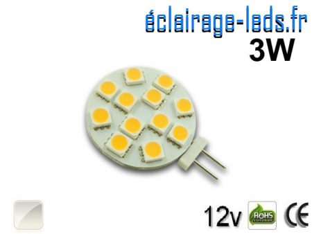 Ampoule led G4 12 led blanc naturel 12v