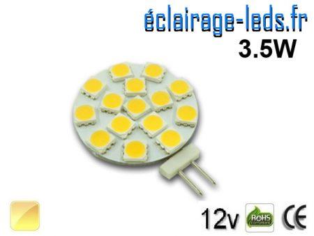Ampoule led G4 15 led blanc chaud 12v