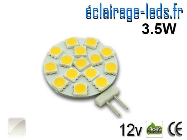 Ampoule led G4 15 led blanc naturel 12v