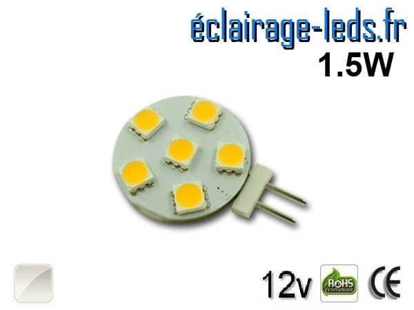 Ampoule led G4 6 led blanc naturel 12v