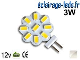 Ampoule led G4 Flower 9 led blanc naturel 12v