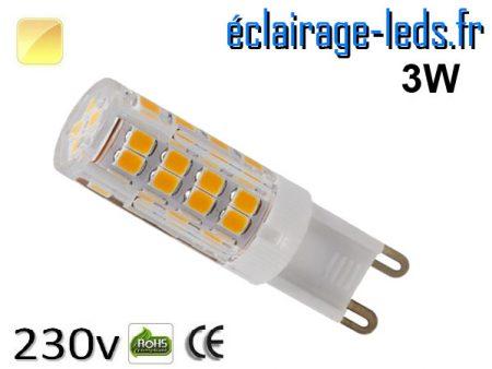Ampoule LED G9 3w blanc chaud 230v