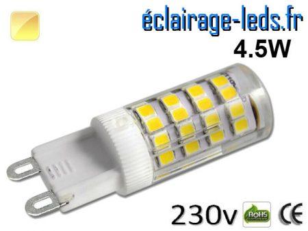 Ampoule LED G9 4.5w blanc chaud 230v
