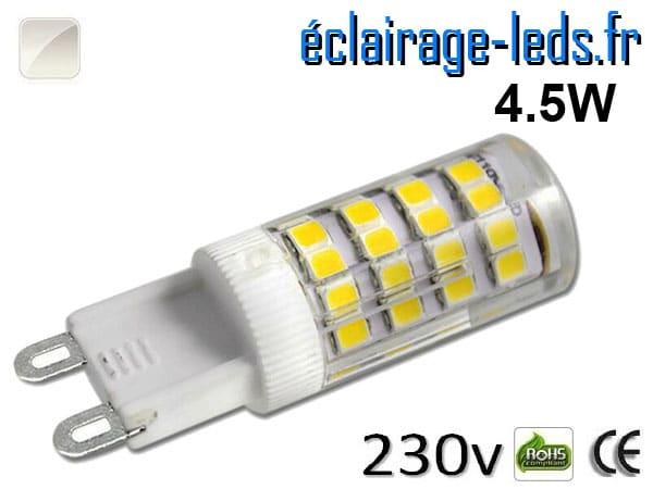 Ampoule LED G9 4.5w blanc naturel 230v