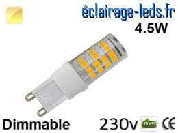 Ampoule LED G9 dimmable 4.5w blanc chaud 230v