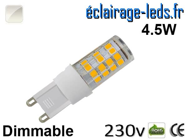Ampoule LED G9 dimmable 4.5w blanc naturel 230v