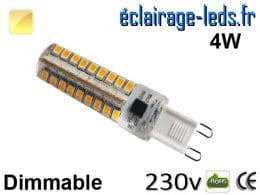 Ampoule LED G9 dimmable 4w blanc chaud 230v