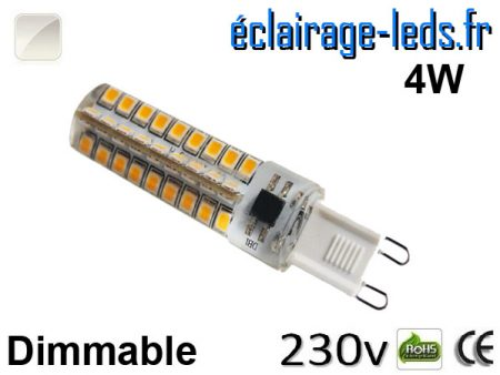 Ampoule LED G9 dimmable 4w blanc naturel 230v
