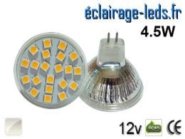 Ampoule LED MR16 21 led blanc naturel 12v
