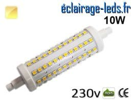Ampoule LED R7S 10w smd 2835 118mm blanc chaud
