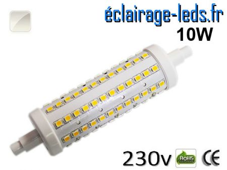 Ampoule LED R7S 10w smd 2835 118mm blanc naturel