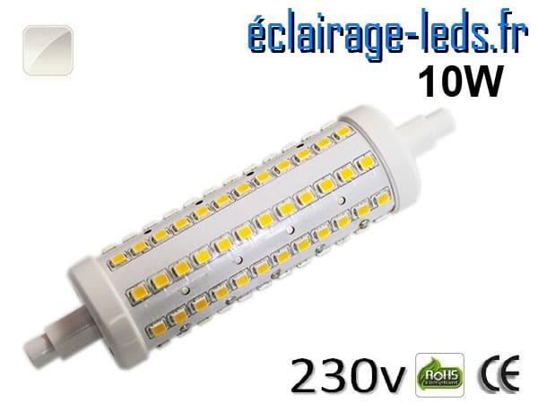 Ampoule LED R7S 10w smd 2835 118mm blanc naturel