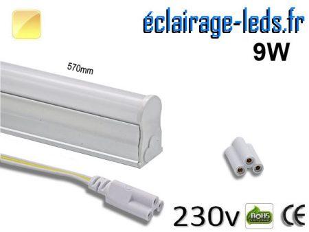 Néon LED T5 9w blanc chaud 900 Lm 230v AC