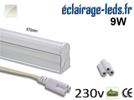 Tube néon LED T5 9w blanc naturel 230v AC