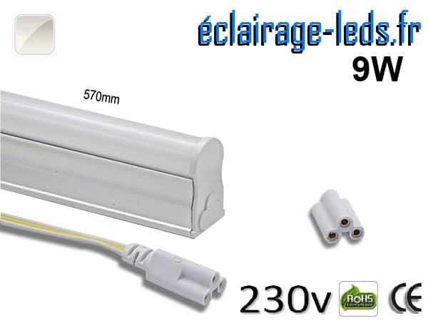 Tube néon LED T5 9w blanc naturel 230v AC