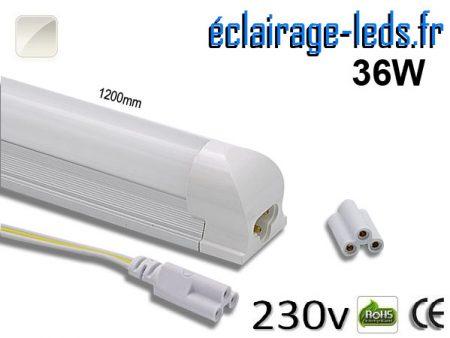 Tube & Néon LED T8 120cm 36w blanc naturel 230v AC