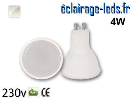 Ampoule LED GU10 4w blanc naturel 230v