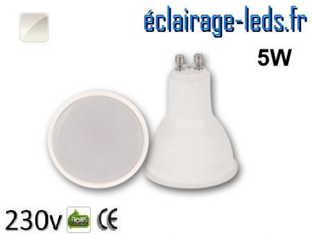 Ampoule LED GU10 5w blanc naturel 230v