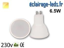 Ampoule LED GU10 6.5w blanc chaud 230v