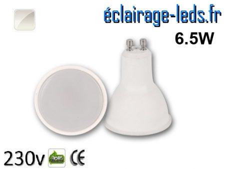 Ampoule LED GU10 6.5w blanc naturel 230v
