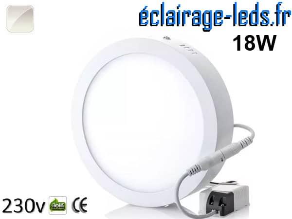 Spot LED 18w blanc naturel 230v