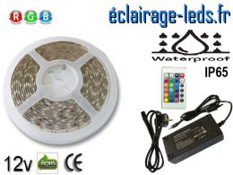 Kit bandeau LED Multi-couleur RGB 12v