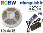 Kit avec un bandeau LED RGBW IP65