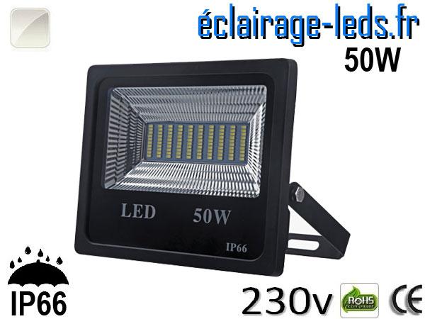 Projecteur LED extérieur 50w IP66 Blanc 230V