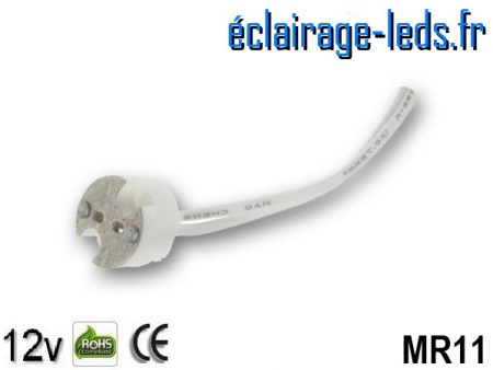 Douille LED MR11 12v