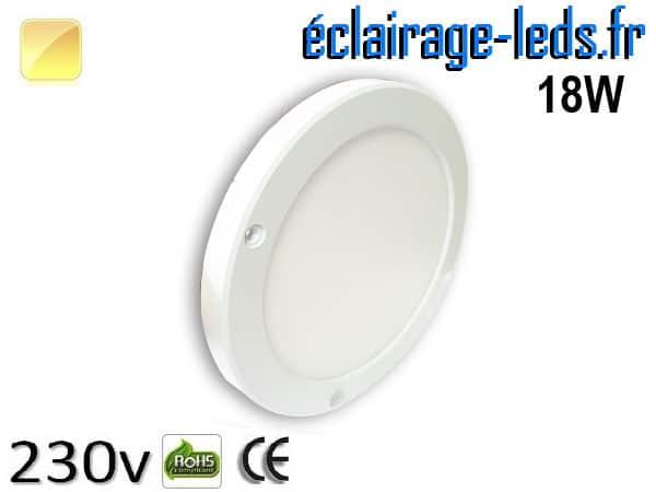 spot led 18w blanc chaud détecteur de présence 230v-1