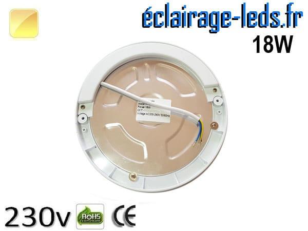 spot led 18w blanc chaud-détecteur de présence