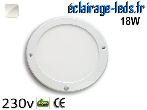 Spot LED Blanc naturel détecteur de présence