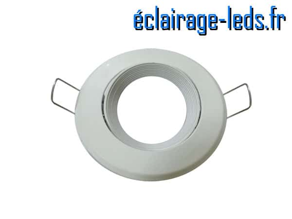 Support LED blanc orientable perçage 70mm