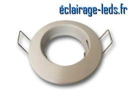 Support LED encastrable fixe blanc