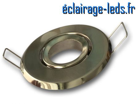 Support LED MR11 encastrable chrome orientable