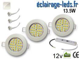 Kit Spot MR16 fixe blanc 21 LED Blanc naturel 12V