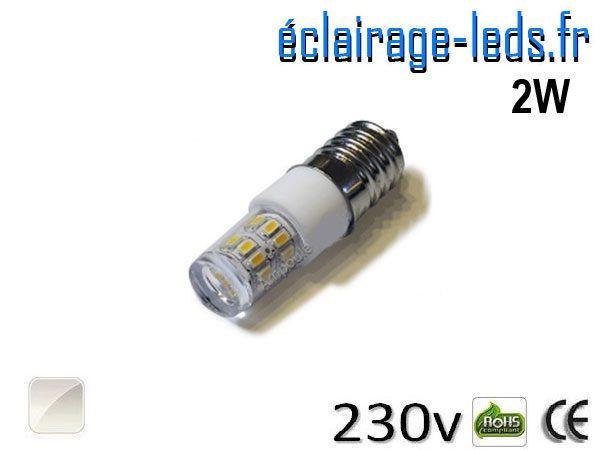 Ampoule LED E14 2W Blanc naturel 230V