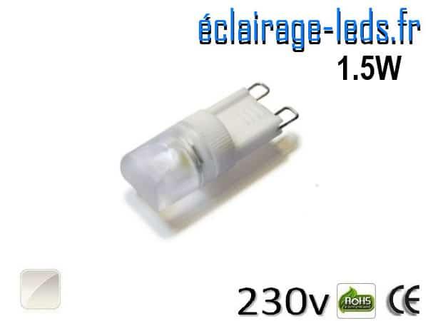 Ampoule LED G9 1.5w COB blanc naturel 230v