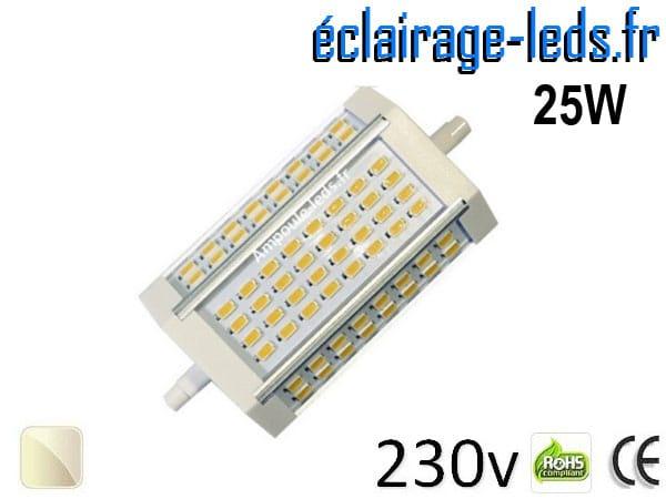Ampoule LED R7S 25w smd 5630 118mm blanc naturel 230v