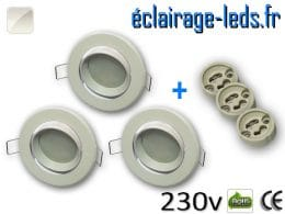 Spots LED Gu10 Blanc naturel orientable Ø 70mm